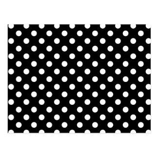 Black and White Polka Dots Postcard
