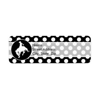 Black and White Polka Dots; Rodeo Cowboy