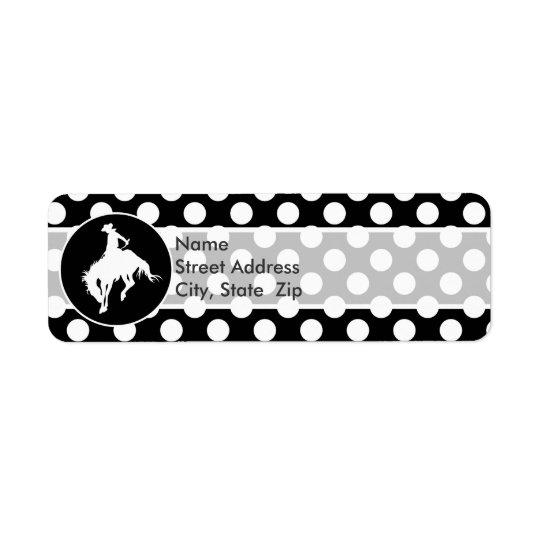 Black and White Polka Dots; Rodeo Cowboy
