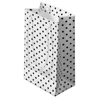 Black and White Polka Dots Small Gift Bag