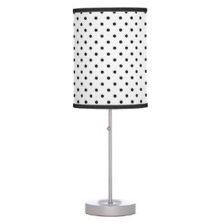 Black and White Polka Dots Table Lamp