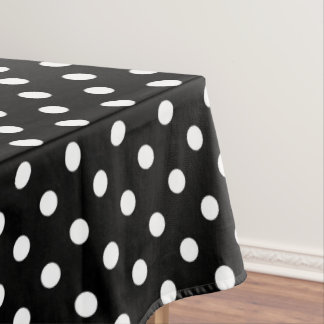 Black and White Polka Dots Tablecloth