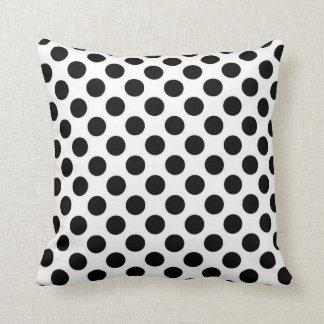 Black and White Polka Dots Throw Pillows