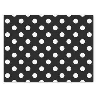 Black and White Polka Dots Tissue Paper
