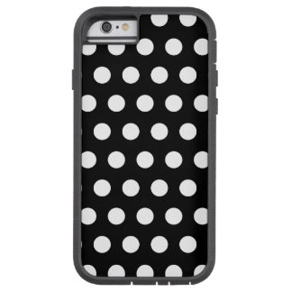 Black and White Polka Dots Tough Xtreme iPhone 6 Case