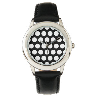 Black and White Polka Dots Watch