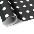Black and White Polka Dots Wrapping Paper