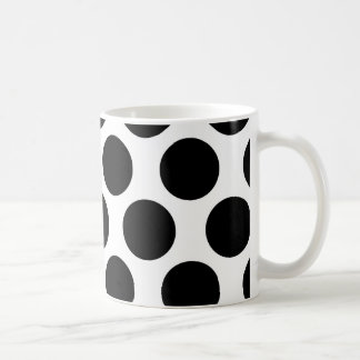 Black and White Polkadot pattern Coffee Mug
