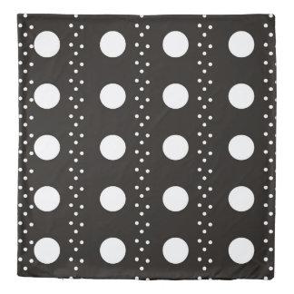 Black and White Polkadots Duvet Cover
