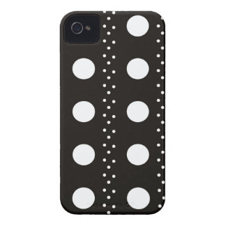 Black and White Polkadots iPhone 4 Case-Mate Cases