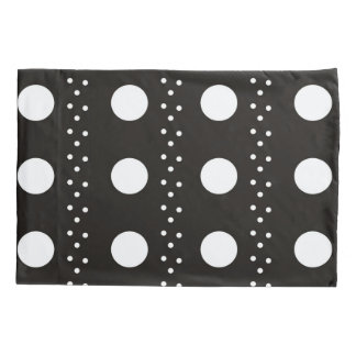 Black and White Polkadots Pillowcase