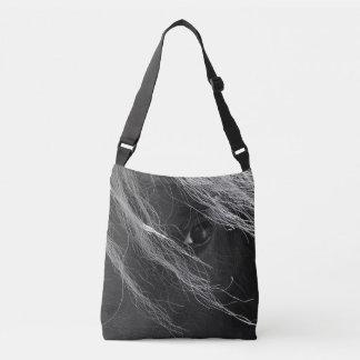 Black and White Pony Hair Crossbody Bag