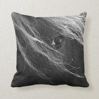 Black and White Pony Hair Throw Pillow