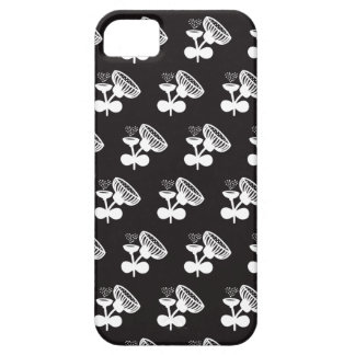 Black and white poppy flowers iPhone 5 cover