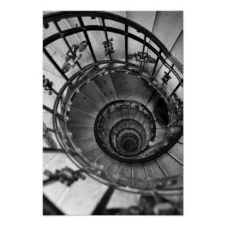 Black and white print. Modern photography for home Poster