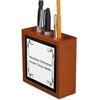 Black and White Professional Simple Desk Organizer