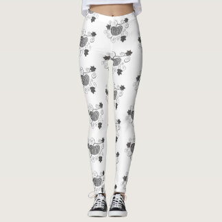 Black and White Pumpkin Leggings