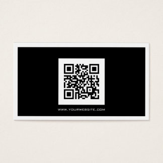 Black and White QR Code Consultant Business Card