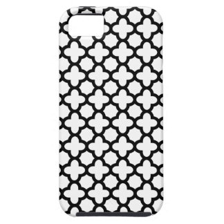 Black and White Quatrefoil iPhone 5 Case