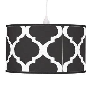 Black and White Quatrefoil Pendant Lamp