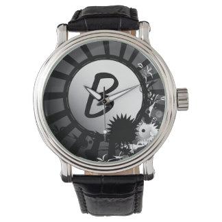 Black and White Radial Monogram | Watch