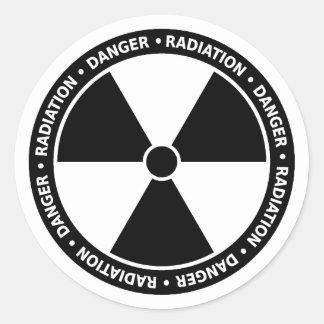 Black and White Radiation Symbol Sticker
