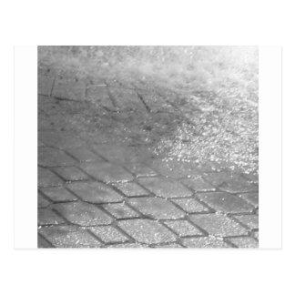 Black and White RainDrops Postcard