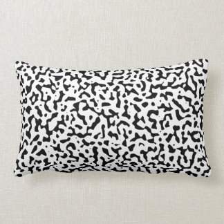 Black and White Randomness Lumbar Pillow