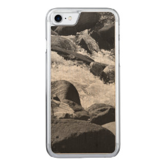 Black and White Rapids Carved iPhone 8/7 Case