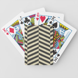 Black and White Retro Stripes Pattern Bicycle Playing Cards