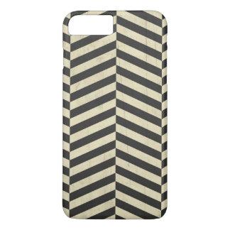 Black and White Retro Stripes Pattern iPhone 7 Plus Case