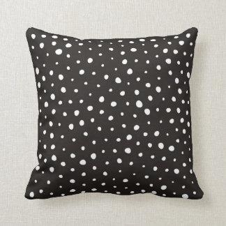 Black and White Reverse Dalmatian Print/Pattern Throw Pillow