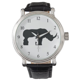 Black and White Rhino Watch
