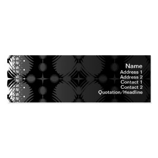 Black and White Ripples Big Pack Of Skinny Business Cards