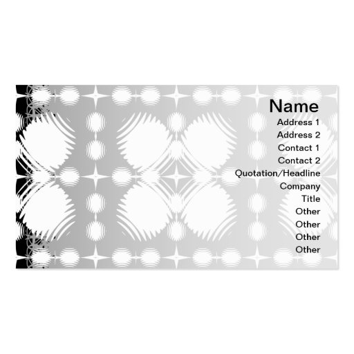 Black and White Ripples Big Business Cards