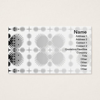 Black and White Ripples Big Inverted Business Card
