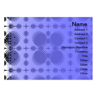 Black and White Ripples Big Inverted Large Business Card