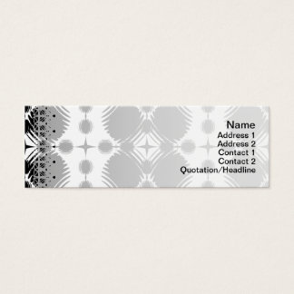 Black and White Ripples Big Inverted Mini Business Card