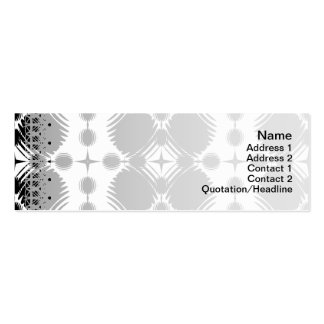 Black and White Ripples Big Inverted Pack Of Skinny Business Cards