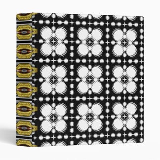 Black and White Ripples Small 3 Ring Binder