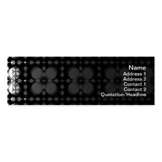 Black and White Ripples Small Double-Sided Mini Business Cards (Pack Of 20)