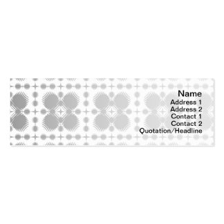 Black and White Ripples Small Inverted Pack Of Skinny Business Cards