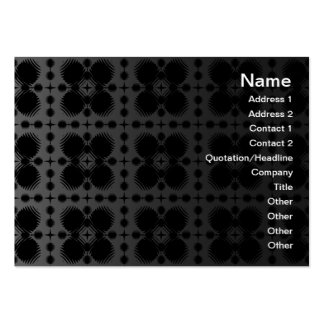 Black and White Ripples Small Inverted Large Business Card