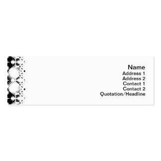 Black and White Ripples Small Mini Business Card