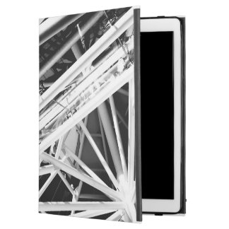 Black and White Roof Abstract iPad Case