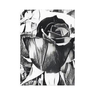 "Black and White Rose (14"" x 19.6"", 1.5"", Single) Canvas Print"