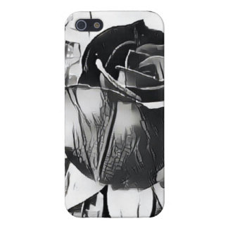 Black and White Rose iPhone SE/5/5s Glossy Case