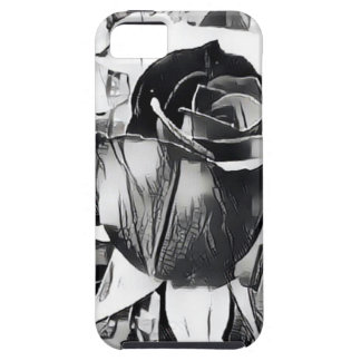 Black and White Rose iPhone SE/5/5s Phone Case