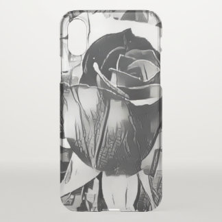 Black and White Rose iPhone X Clearly™ Case