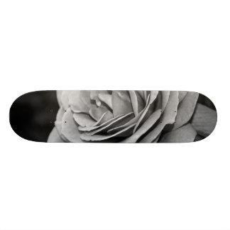 Black and White Rose Custom Skateboard